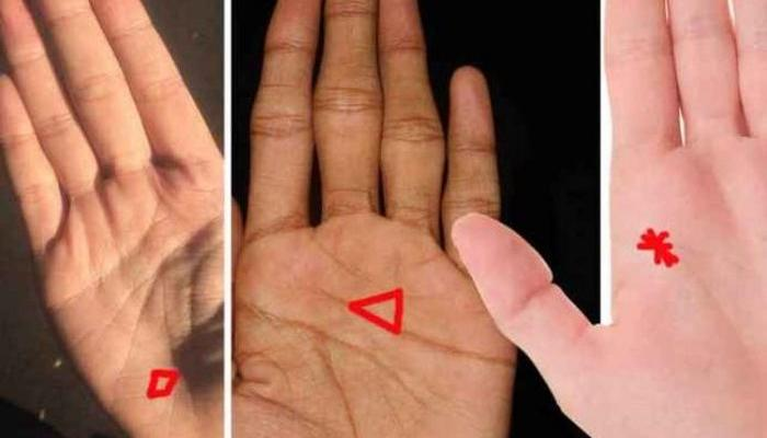 SHAPES ON THE PALM: Find DIAMOND, STAR, TRIANGLE, CROSS and find out what they mean
