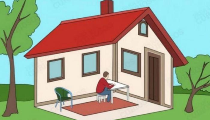 Psychological test: Is the man in the house or out of it